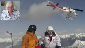 'You're in a different world': 95-year-old daredevil sets new HELI-SKIING world record by conquering Canadian mountain (VIDEO)
