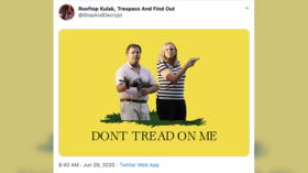 No trespassing at Ken & Karen's: Video of St Louis couple pointing guns at BLM protesters sets Twitter alight