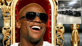 'I've got MORE cars than this': Floyd Mayweather gives a glimpse of BILLIONAIRE lifestyle on tour of INCREDIBLE LA mansion (VIDEO)