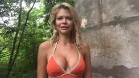 Fired Ukrainian deputy minister puts on bikini & announces own party to fight 'male political prostitutes' in power (VIDEO)
