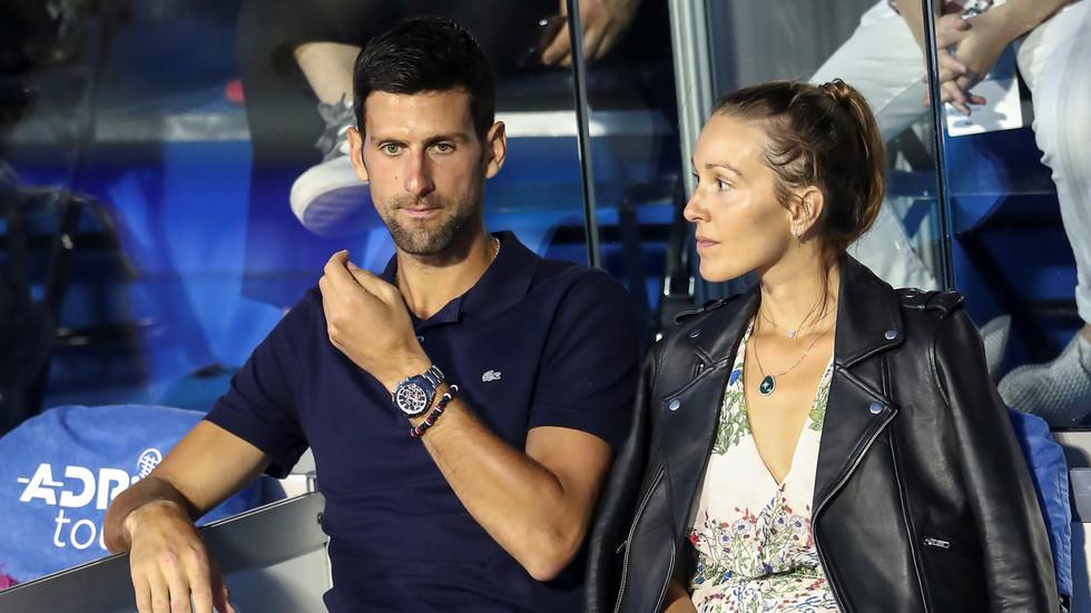 Novak Djokovic  wife Jelena test NEGATIVE for...
