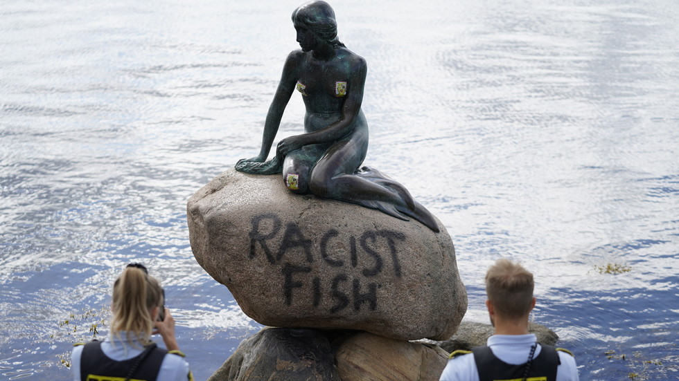 'RACIST FISH': Little Mermaid statue in Denmark vandalized again