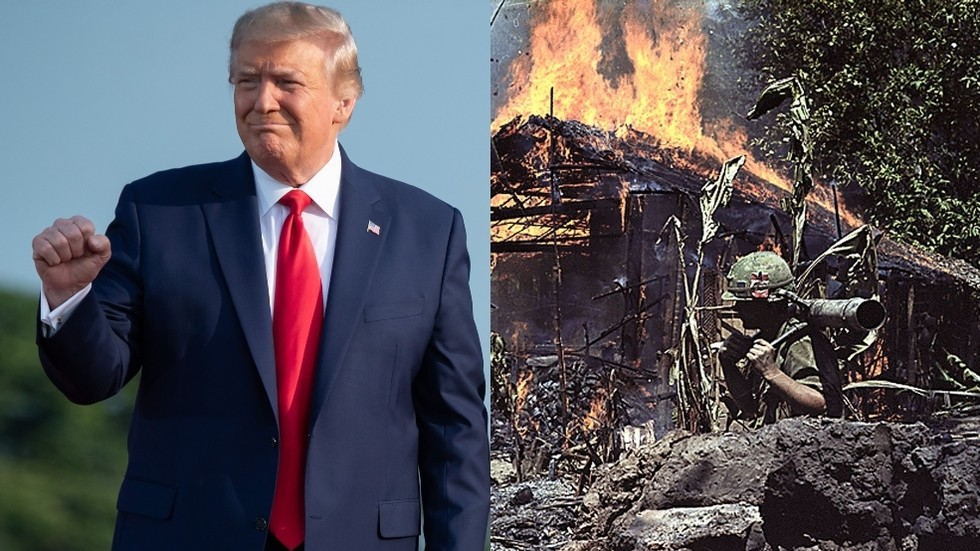 Anti-Trump brigade rushes to school president over misleading clip implying he said Desert Storm op was in 'jungles of Vietnam'