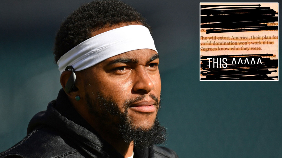 'Absolutely APPALLING': Philadelphia Eagles SLAM NFL star who DENIES antisemitism after posting fake HITLER quote on white Jews