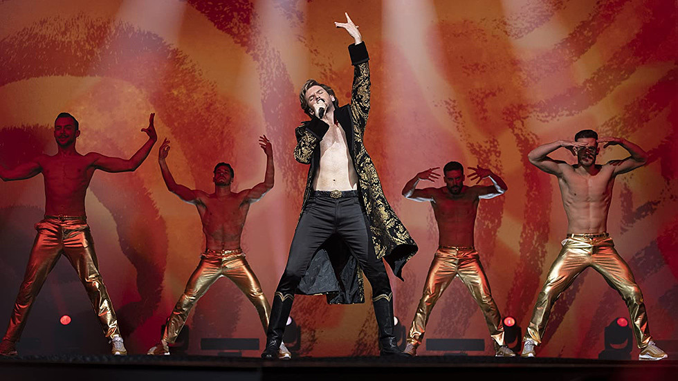 The queer Russian pop star in the Netflix hit 'Eurovision' is a rare example of an American movie getting Russians right