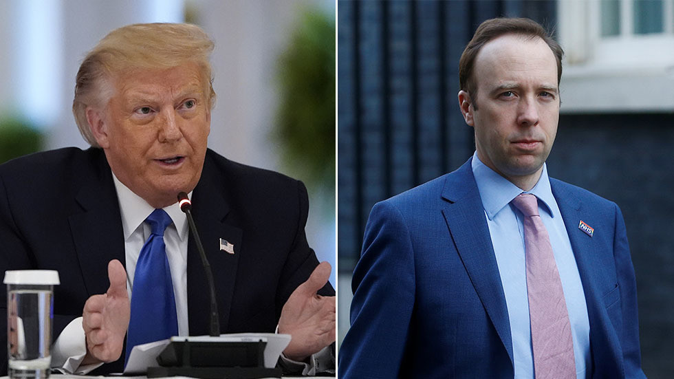 'We all know Trump, don't we?': UK health secretary brushes off claims that White House 'convinced' London to ban Huawei 5G kits