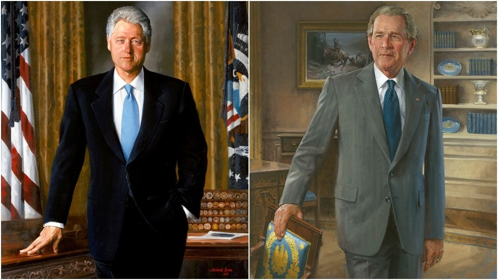 CNN's latest massive White House scoop? Portraits of Bill Clinton & George W. Bush 'moved to a less prominent room'