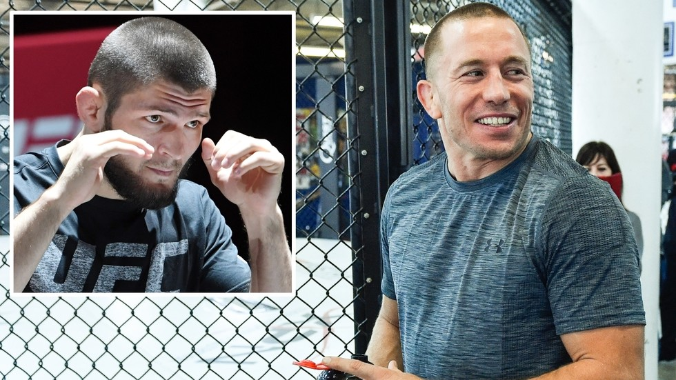 'The PERFECT fighter': UFC legend Georges St-Pierre HAILS Khabib Nurmagomedov but says he'd love to be the first man to defeat him