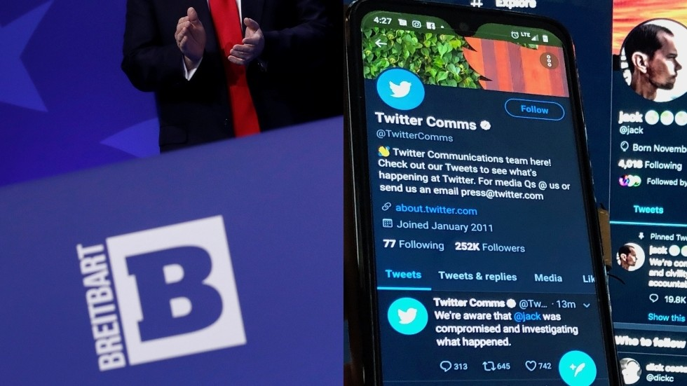 Twitter locks out Breitbart account as crackdown on pro-HCQ doctor's livestream continues