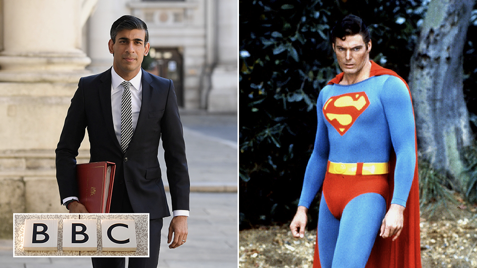 'Reeks of propaganda': BBC denounced after portraying UK finance minister as SUPERHERO on mission to 'SAVE the economy' (VIDEO)