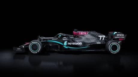 Mercedes' new black F1 car. © Twitter @MercedesAMGF1