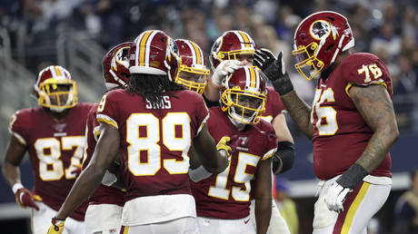 Washington Redskins  during the second quarter against the Dallas Cowboys at AT&T Stadium, Arlington, Texas, USA; Dec 29, 2019 © Reuters / USA TODAY Sports/Kevin Jairaj