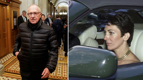 Attorney Alan Dershowitz (left) has defended Ghislaine Maxwell (right). © REUTERS/Joshua Roberts; © Chris Ison/PA via AP (File photo from 2000)