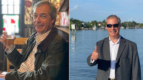 'Cheers!': Farage hits back at claims he broke lockdown rules for pint in local pub