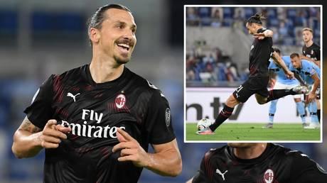 Goalscorer: AC Milan hitman Zlatan Ibrahimovic