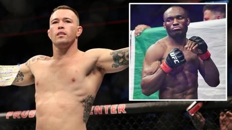 Colby Covington and (inset) UFC welterweight champion Kamaru Usman