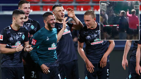 Werder Bremen stay in the Bundesliga © Kai Pfaffenbach / Action Images via Reuters | Heidenheim fans © YouTube / Football is Life