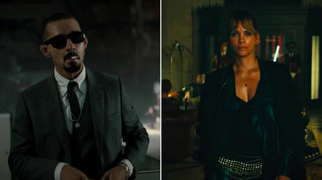 Shia Labeouf in 'The Tax Collector' Dir. David Ayer (2020)/Halle Berry in 'John Wick: Chapter 3' Dir. Chad Stahelski (2019) ©  RLJE Films/Lionsgate