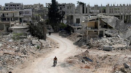 The militant-held town of Nairab, in Idlib province, Syria, April 17, 2020.