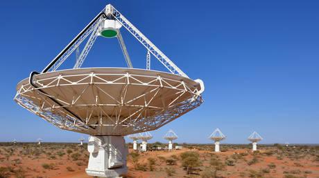 Antennas of CSIRO's ASKAP telescope at the Murchison Radio-astronomy Observatory in Western Australia. © CSIRO