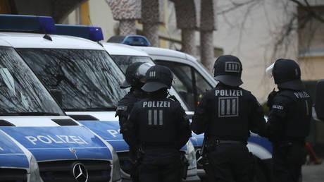 FILE PHOTO: German police in Frankfurt