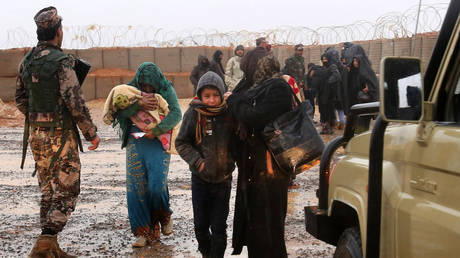 Syrian refugee patients from the makeshift Rukban camp, March 1, 2017