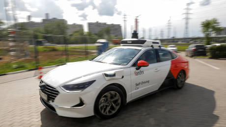 Yandex self-driving car in Moscow