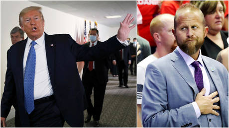 FILE PHOTOS: (L) US President Donald Trump; (R) former Trump campaign manager Brad Parscale.