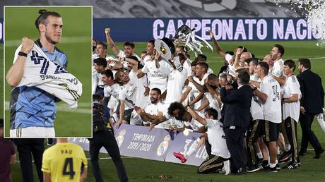 Gareth Bale and Real Madrid celebrate their La Liga title win. © Getty Images / Quality Sport