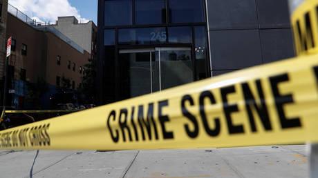NYPD crime scene tape, New York City, July 15, 2020.
