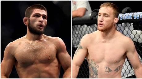 UFC lightweight stars Khabib Nurmagomedov and Justin Gaethje. © Getty Images / Zuffa LLC