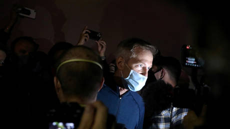 Portland's Mayor Ted Wheeler pictured during a protest against racial inequality and police violence in Portland, Oregon, US, July 22, 2020