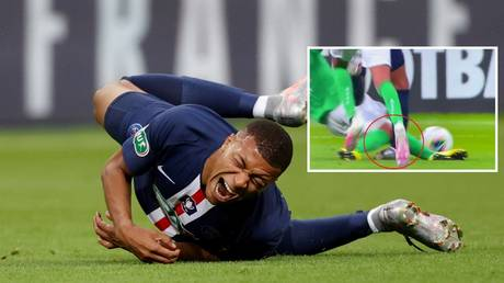 PSG forward Kylian Mbappe is an injury fear for the Champions League. © Reuters / Screenshot Twitter