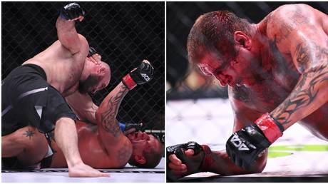 Magomed Ismailov defeated heavyweight opponent Alexander Emelianenko at ACA 107. © Sputnik Images