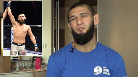 UFC fighter Khamzat Chimaev. © RT Sport / Zuffa LLC