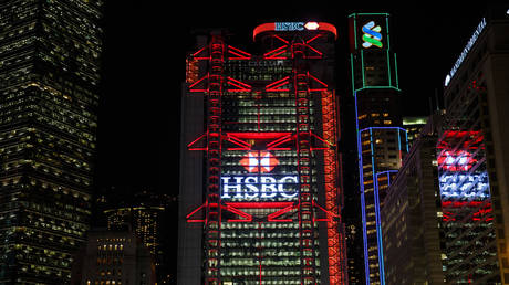 FILE PHOTO: The HSBC headquarters building in Hong Kong © AFP / Anthony Wallace
