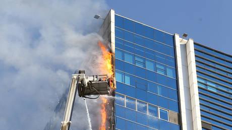 The fire at Via Tower in Ankara, Turkey