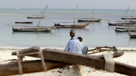 A man sits at the shores of the Indian Ocean at Nungwi beach in Zanzibar, Tanzania. © Reuters / Thomas Mukoya