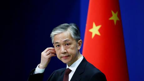 Chinese Foreign Ministry spokesman Wang Wenbin in Beijing, July 27, 2020. © Reuters / Tingshu Wang