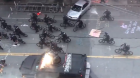 WATCH police on BIKES arrive to shut down Seattle's CHAZ