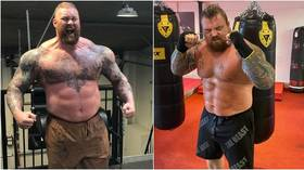'If he was on fire, I wouldn't p*ss on him': Hall reignites strongman rivalry with Game of Thrones giant Thor ahead of boxing bout