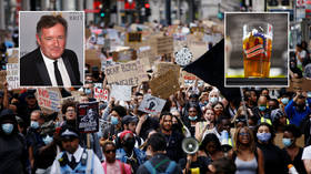 Piers Morgan slammed for hypocrisy after blasting pubs opening but supporting son's BLM protest