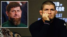 Khabib Nurmagomedov consoled by Chechen leader Ramzan Kadyrov following the death of his father Abdulmanap (VIDEO)
