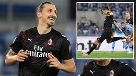 Zlatan is back! Ibrahimovic returns with a goal from the spot as AC Milan THRASH title hopefuls Lazio (VIDEO)