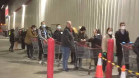 This again? New coronavirus lockdown triggers second wave of panic buying in Australia (VIDEOS)