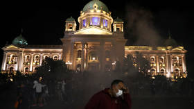 MASSIVE protests rock Serbian capital after new Covid-19 lockdown announcement (PHOTOS, VIDEOS)