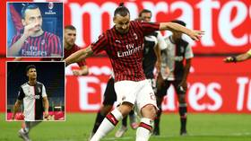 'You know him': Zlatan TAUNTS Ronaldo as Juventus star fails to foil penalty before giant Swede tells him 'to SHUT UP' (VIDEO)