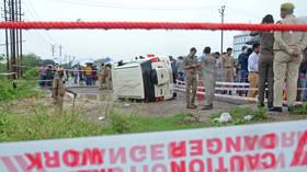 Indian gangster shot dead by police during botched escape after he's arrested over massacre of 8 cops