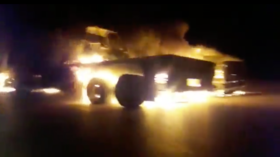 'US military supply convoy' attacked & torched in Iraq (VIDEO)