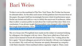 New York Times has double standards & serves woke mob? Bari Weiss' shocking resignation letter only states the obvious